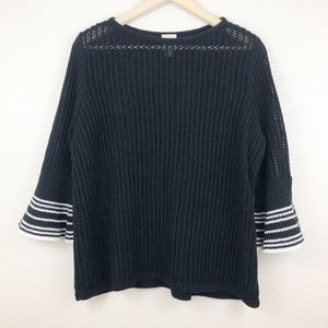 Chico's Bell Sleeve Black Knit Sweater